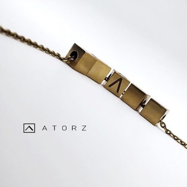 貴金屬精品系列   VENV 銅塊項鍊‧轉動