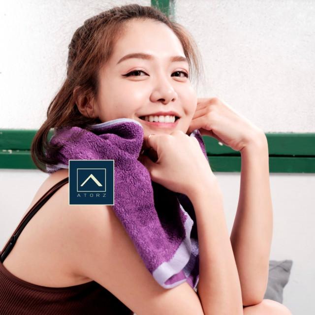 萊賽爾天絲棉浴巾 ‧ 靛紫 / 湛藍