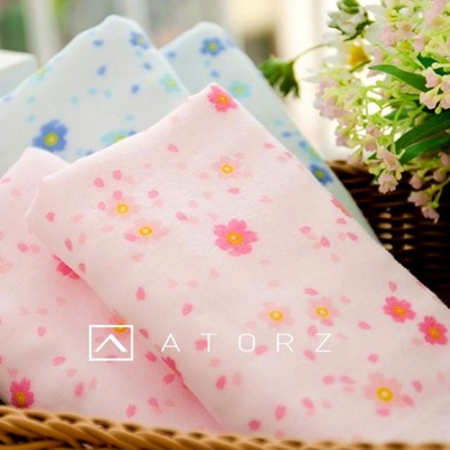 櫻花紗布巾