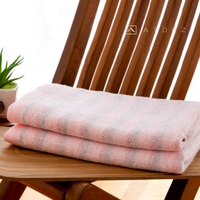 條紋超吸水毛巾 / 單色2入