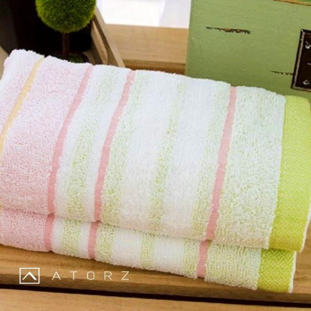 橫紋色層毛巾組 / 12入混色