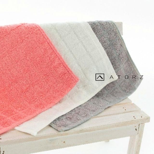 方格純色超吸水手帕/擦拭巾 ‧ 單色3入