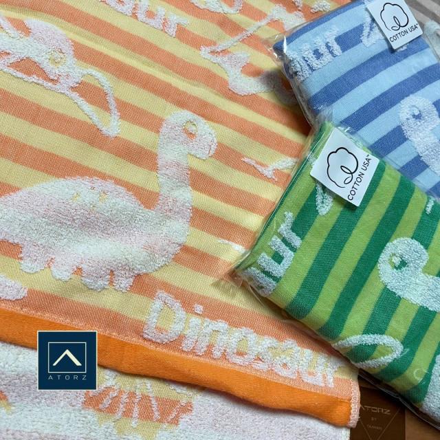 小恐龍美棉紗布毛巾