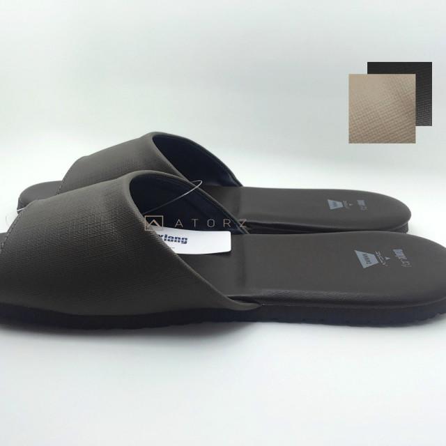 室內皮革防滑靜音拖鞋