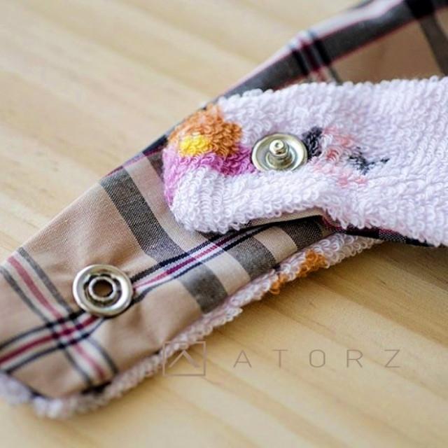 防水釘釦口水巾