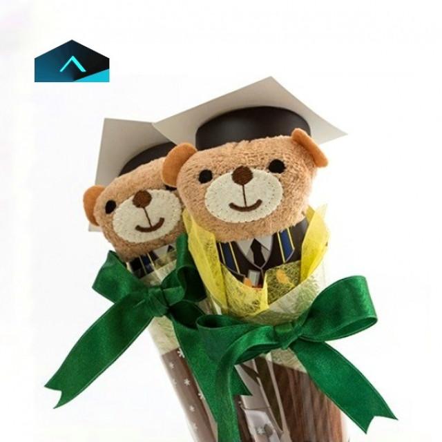 畢業小熊花束