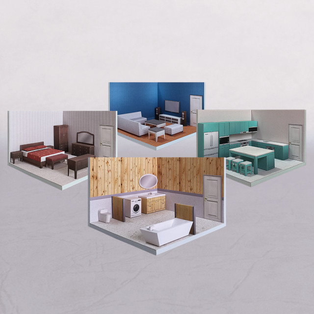 【限量優惠】場景袖珍屋 - RoomBox #002 - DIY 紙模型