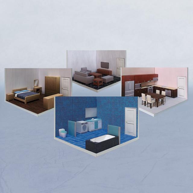 【限量優惠】場景袖珍屋 - RoomBox #001 - DIY紙模型