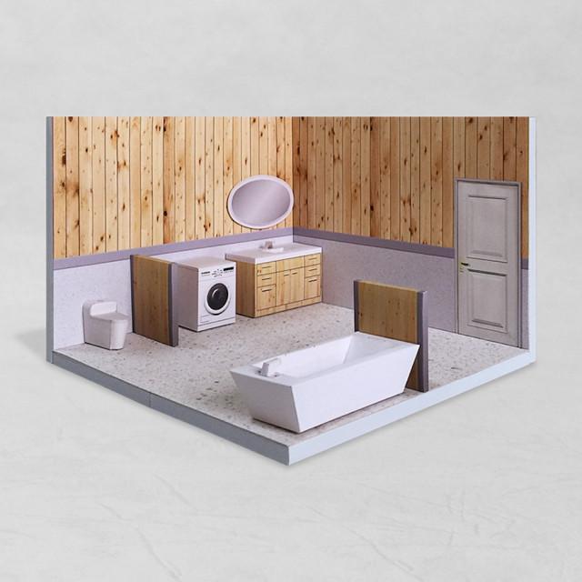 場景袖珍屋 - Bathroom #002 - DIY 紙模型