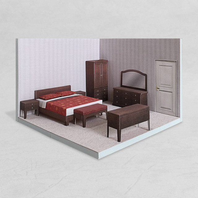 場景袖珍屋 - Bedroom #002 - DIY 紙模型