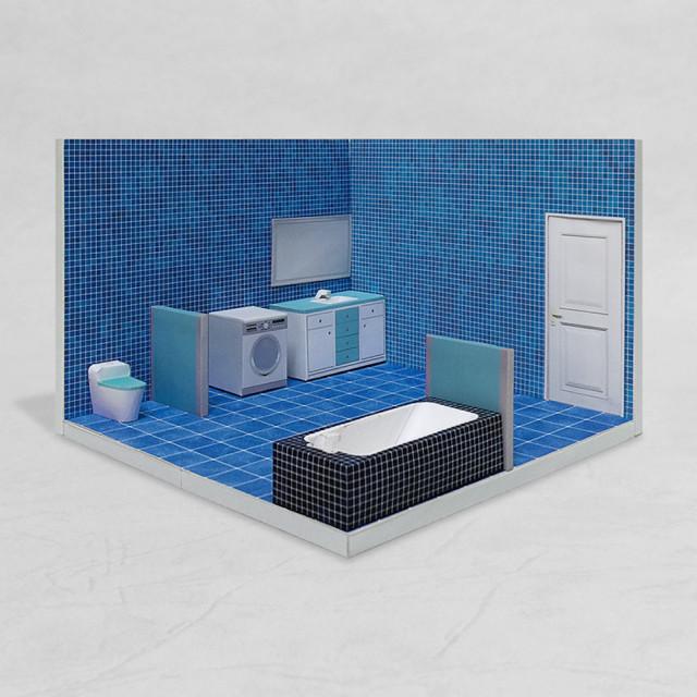 場景袖珍屋 - Bathroom #001 - DIY 紙模型