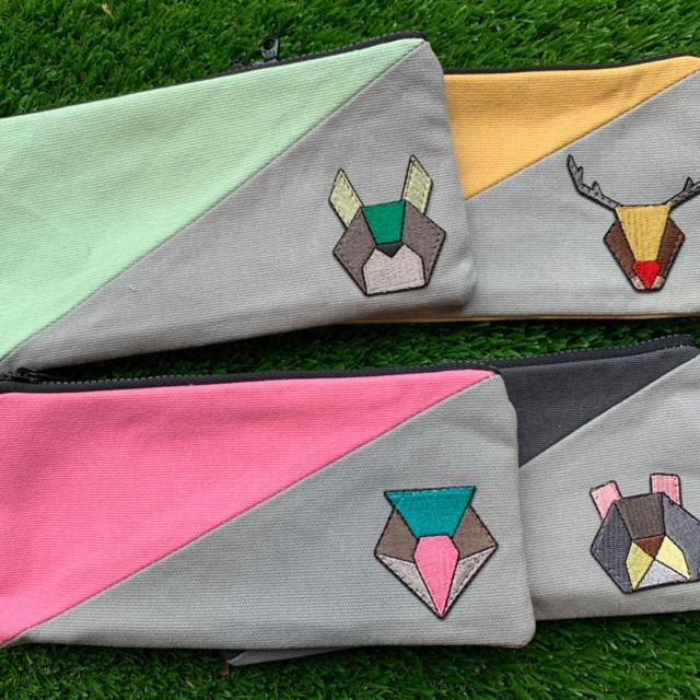 原山動物筆袋