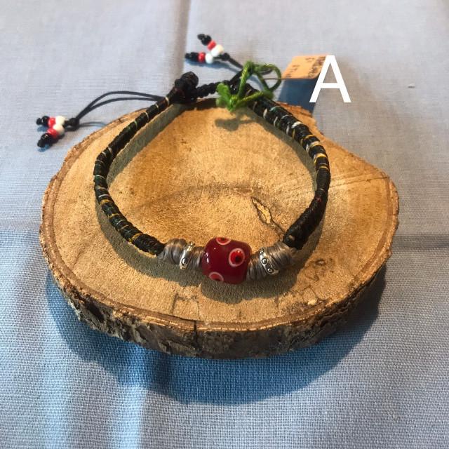 INA私室-圖紋珠(琉璃珠)編織手環