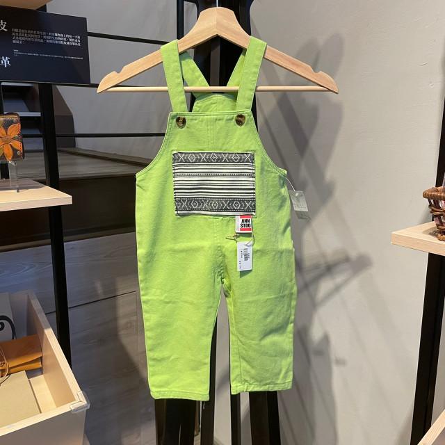 安室-小童吊帶褲(綠)