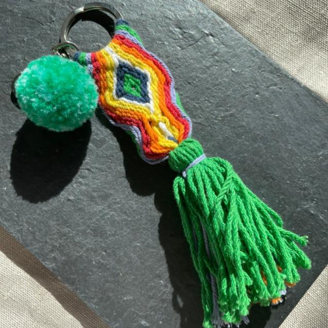 女海-幸運編織魚鑰匙圈