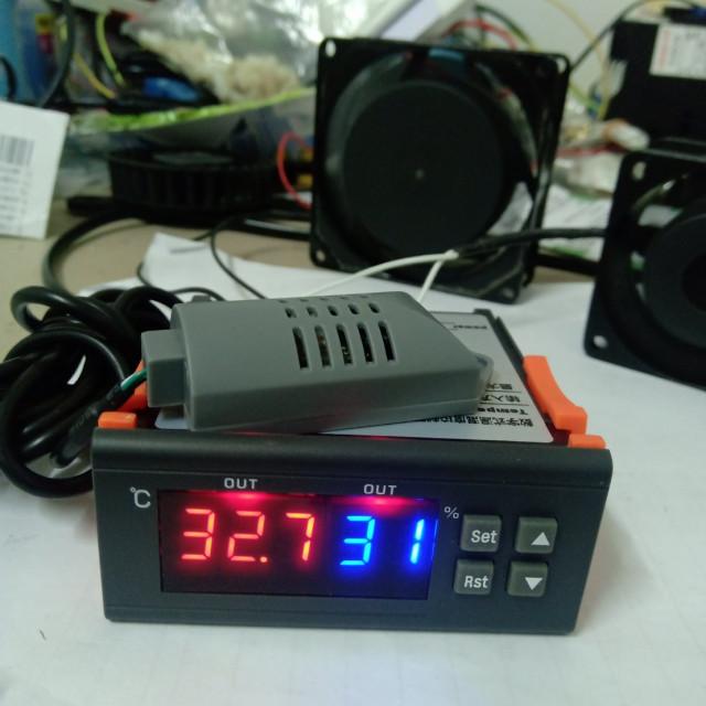 AC110V/AC220V/DC12V溫濕度控制器