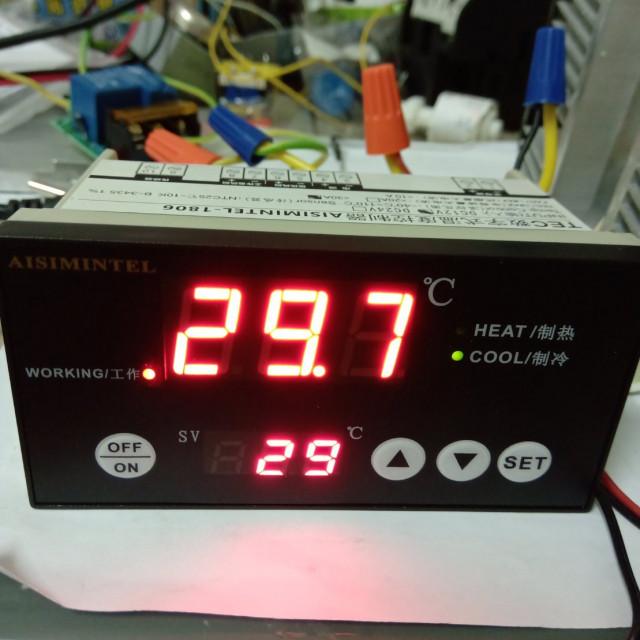 DC12V/DC24V/30A 制冷晶片專用冷熱自動切換溫度控制器(可正負電切換,達到製冷晶片冷熱功能)