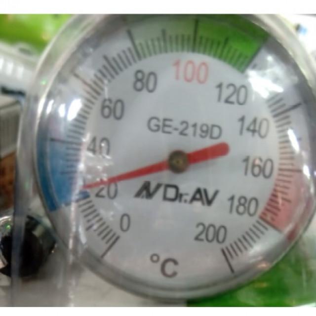 0~200度不銹鋼溫度計,探針長度12.5公分