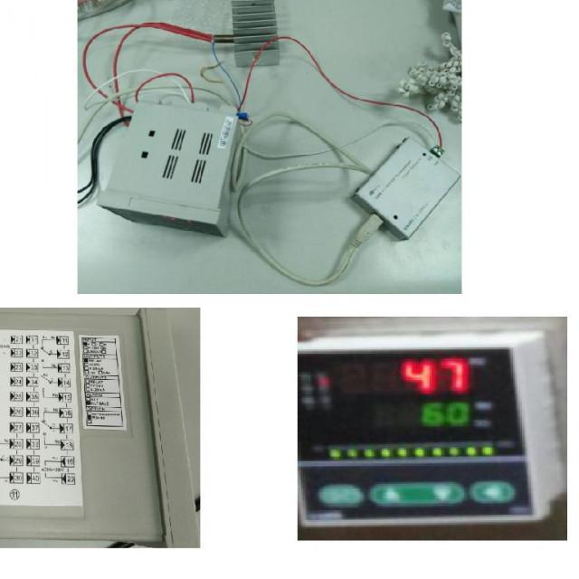 0~400度電腦監控溫度控制器(包含感溫棒,RS485連接器,軟體)尺寸96mm*96mm