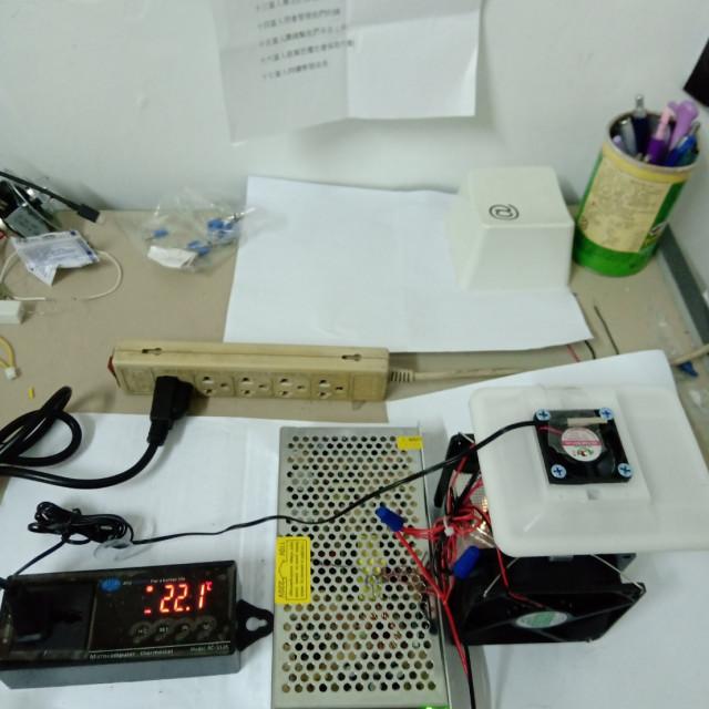 溫度控制立式冷風機(已配好線接AC110V就可以使用)