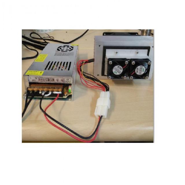 寵物用DC12V/100W遙控型溫度控制製冷器模組(制冷器+電源供應器+遙控型溫控器)含配線