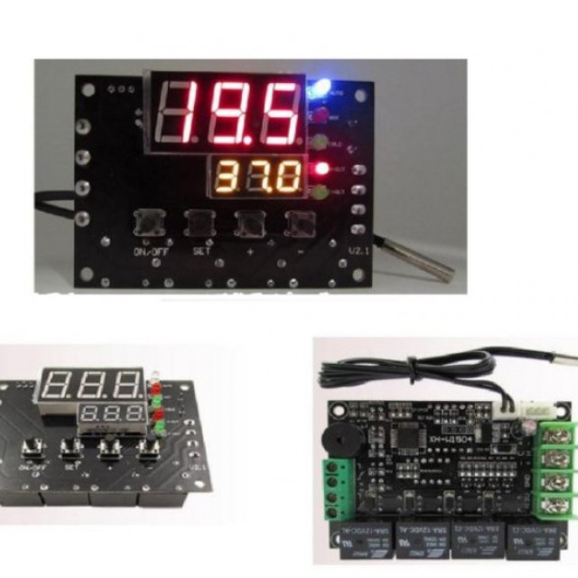 寵物用AC110~220V冷暖設備自動切換溫度控制模組(包含冷暖模組電源供應器,溫度控制器)