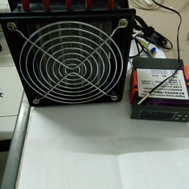 AC110V/AC220V1000W風扇溫控加熱模組(熱風機*1+數位溫控*1)