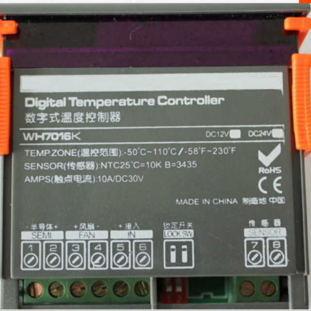 DC12V/DC24V制冷晶片專用冷熱自動切換溫度控制器(可正負電切換,達到製冷晶片冷熱功能)