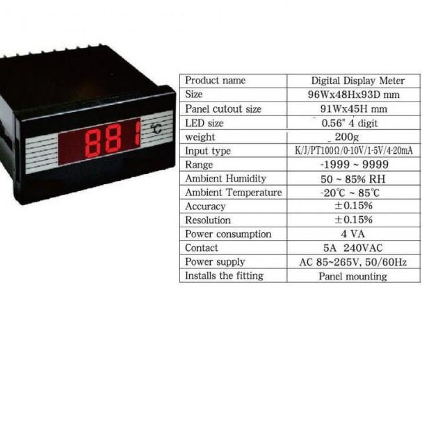 高溫型溫度顯示器(含感溫棒)