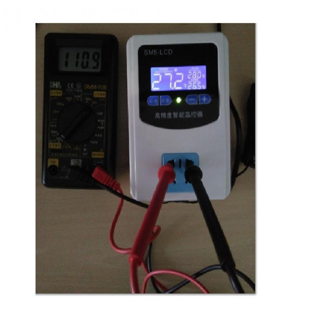 LCDAC110V温度控制器+塑膠探頭