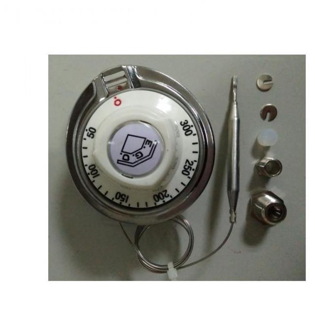 EGO德國製造3PIN腳50~300度液漲式溫度開關白色旋鈕帶螺牙