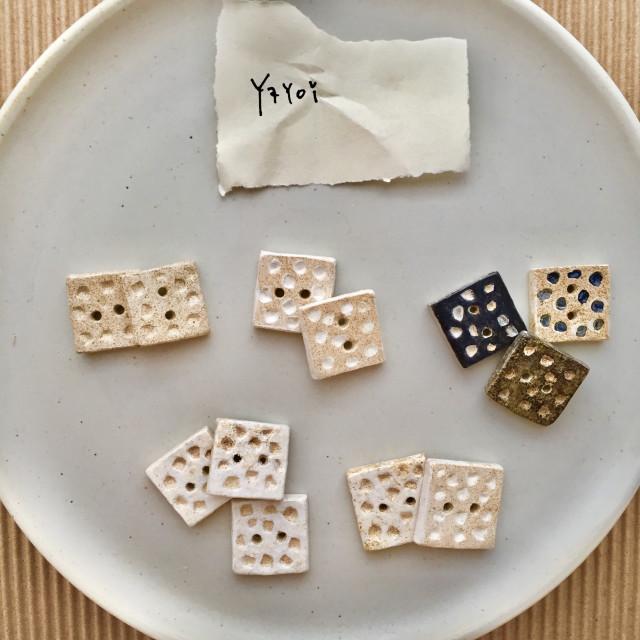 【Yayoi】彌生・手作陶鈕扣