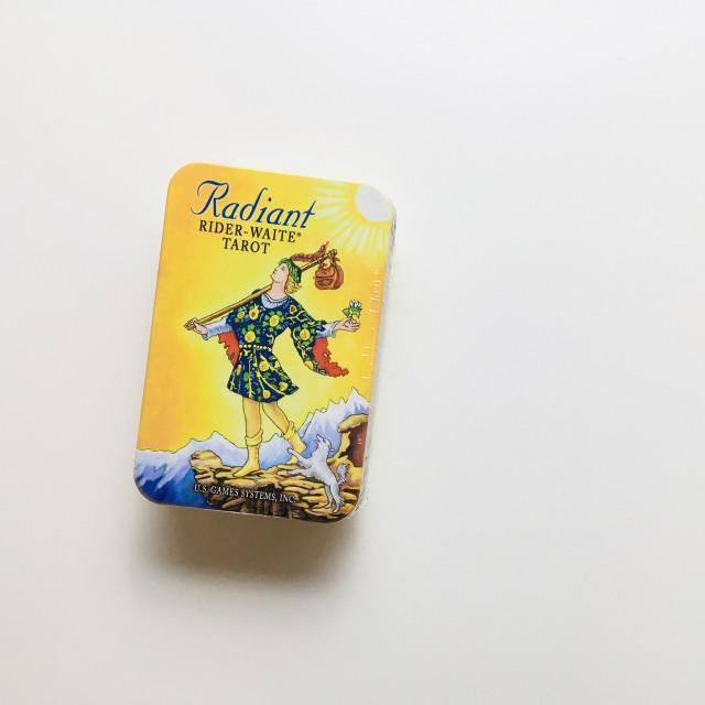 萊德偉特牌|口袋尺寸明亮版本|鐵盒|Radiant Rider-Waite in a Tin