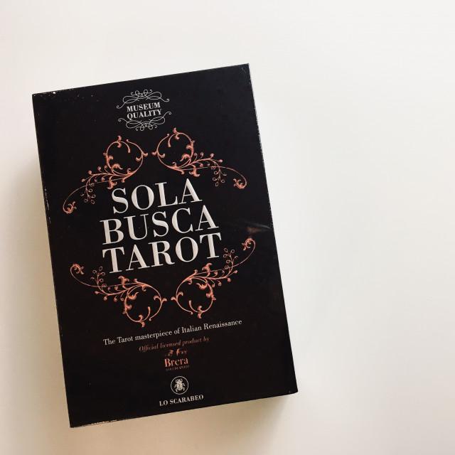 索拉布斯卡塔羅|最老的塔羅牌|收藏套裝硬盒|Sola Busca Tarot