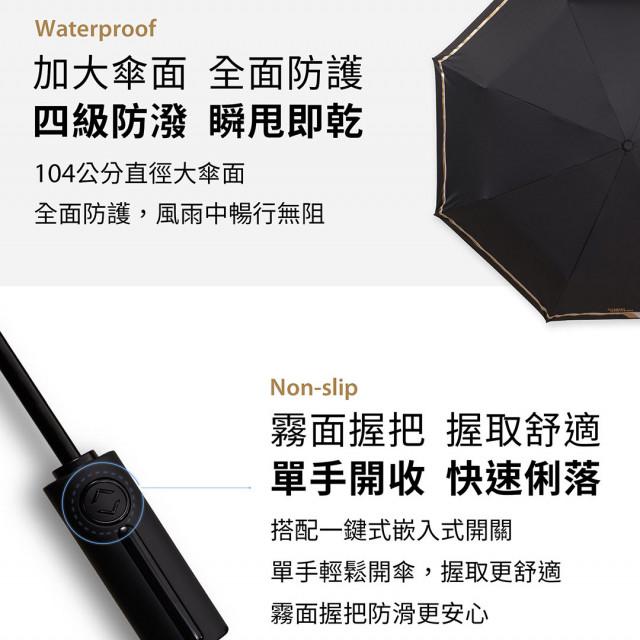 【免運】現貨 真正硬派的傘 二代自動傘 新版超抗風 真16支傘骨 自動傘 抗風 黑膠 防曬 自動傘 衝鋒傘